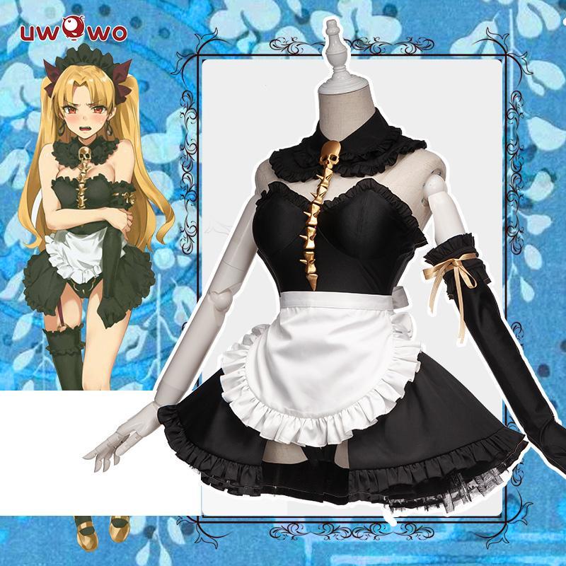 UWOWO Anime FGO Game Ereshkigal Cosplay Costume Maid ...