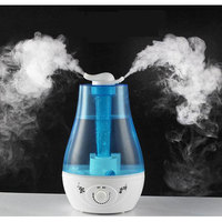 GRTCO 3L Dual Mist Outlet Ultrasonic Air Humidifier with Led Essential Oil Aromatherapy Diffuser Mist Maker Fogger 110V/220V