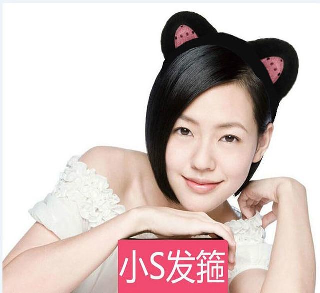 Us 328 Kleine Absatz Mit Kurzen Haaren Katze Ohren Stirnband Qualität Haar Zubehör Stirnband Pony Haarnadel Waschen Haar Stirnband Bandbreite In