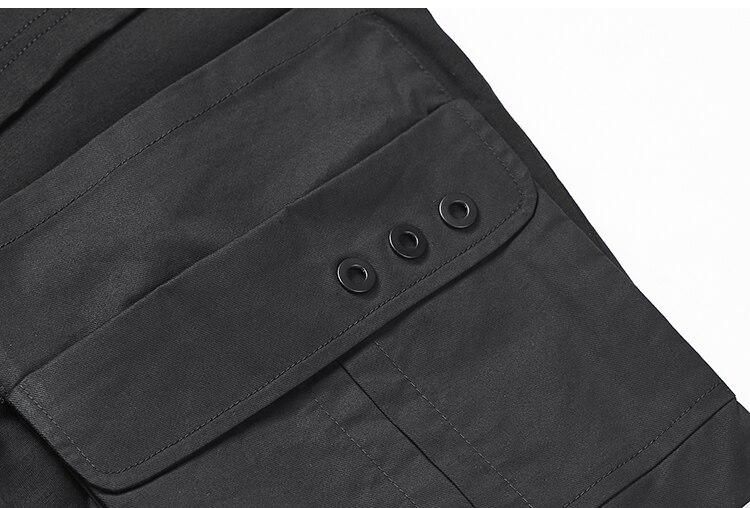 De Personnalité À Noir Respirant shirt Coton Mince Asymétrique Faux Coiffeur Conception Manches Courtes Masculine Deux T Pièces MVqSUpzG