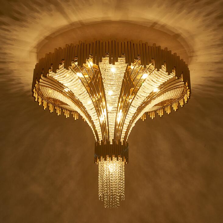 Crystal Duplex Villa Post-modern Ceiling Lamp - Lamps & Lighting