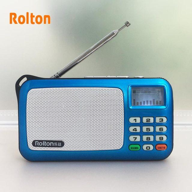 Rolton W505 Portable Radio Lcd Dot Matrix Display Shows The Lyrics