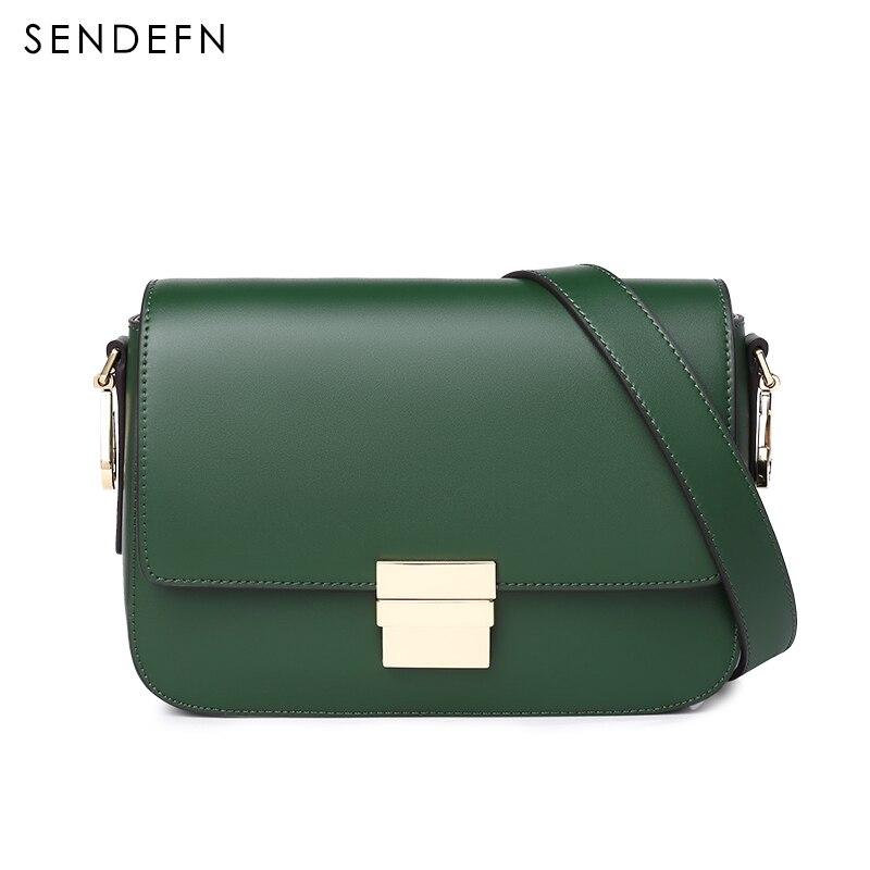 SENDEFN marque Crossbody sacs à bandoulière femmes petite mode Split cuir nouveaux sacs Messenger dames avec serrure spéciale 7144-68