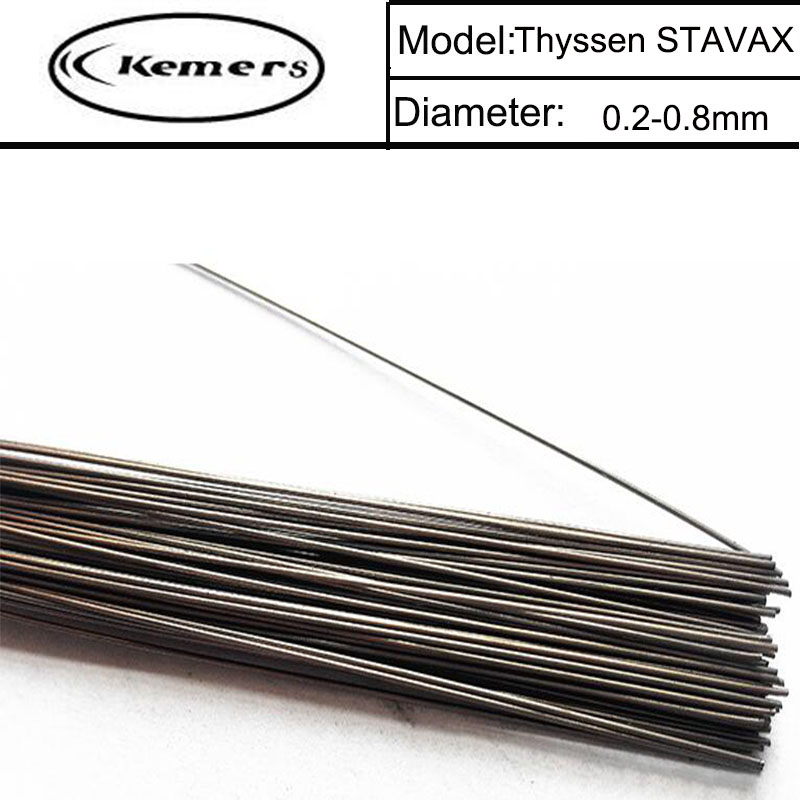Kemers Welding Wires Thyssen STAVAX of (0.8/1.0/1.2/2.0mm) TIG Welding wires &Repairing Mould argon Soldering Wire T012067 mig mag burner gas burner gas linternas wp 17 sr 17 tig welding torch complete 17feet 5meter soldering iron air cooled 150amp