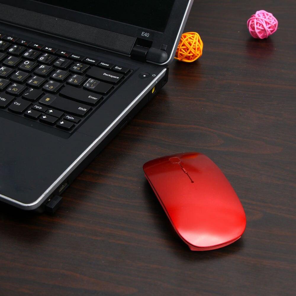 Ultra Thin USB Optical Wireless Mouse 2.4G Receiver Super Slim Mouse Cordless Computer PC Laptop Desktop 3