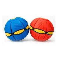 2018 Nowy Led UFO Magia Frisbee Deformacja Piłkę Na Zewnątrz Zabawki twórczy Odpowietrzania Piłka Płaskim Rzut Piłka Piłeczka Antystresowa Zabawki dla dzieci