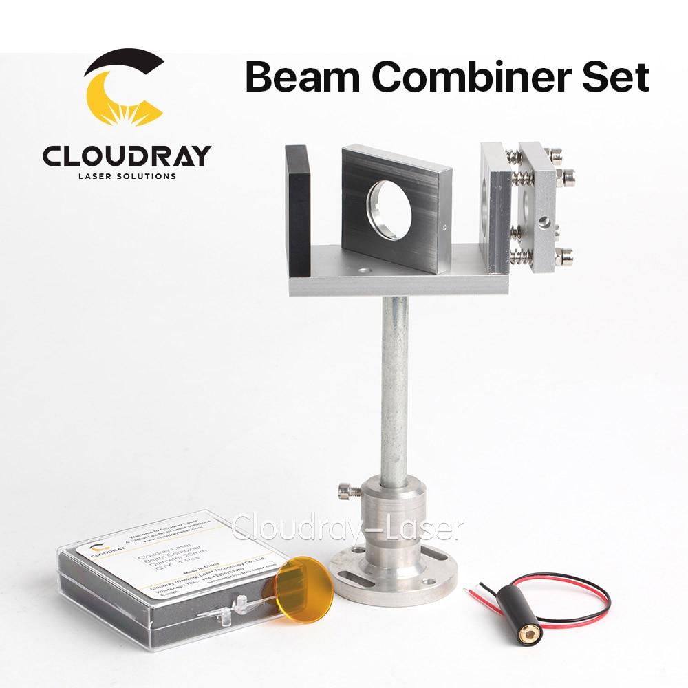 Cloudray луч комбайнер комплект 20/25 мм ZnSe лазерный луч комбайнер + крепление + лазерная указка для CO2 лазерной гравировка резки