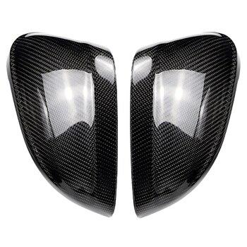Для Audi A4 B9 16-19 A5 B9 17-19 карбоновое волокно боковое Крыло зеркала крышки Сменное украшение