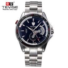 TEVISE 2017 Militar Reloj Deportivo de Lujo Visten Los Hombres Relojes Calendario Luminoso Rotor Discos Dreams reloj Relogio masculino