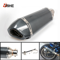 35 51MM Motorcycle Exhaust Pipe Muffler Modified Exhaust Pipefor Aprilia caponord etv 1000 rst1000 futura rsv4 / rsv4 factory