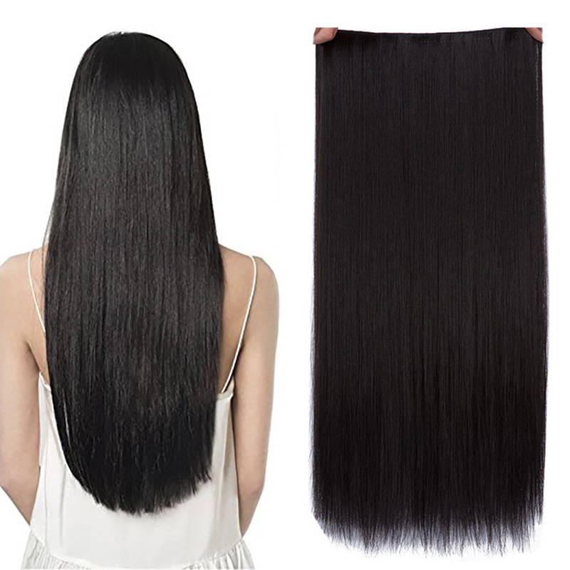 JINKAILI 5 Clips/piece Natural Silky Straight Hair Extention 24