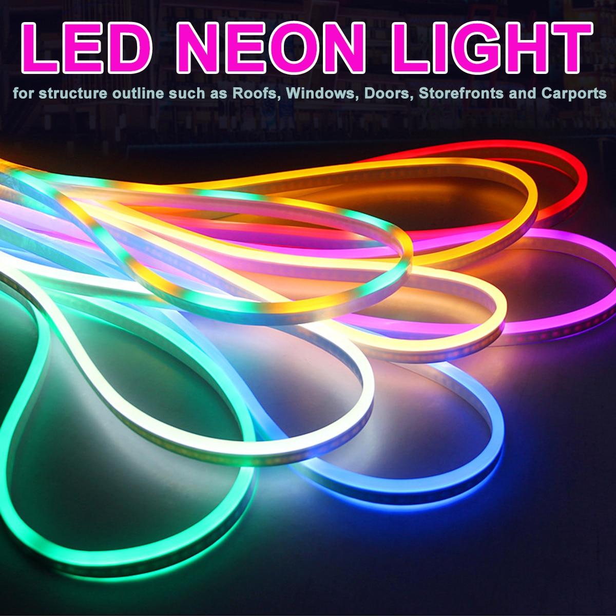 LED Neon Strip 120LED/M 2835 flexible Neon IP65 Waterproof rope light  Decorative Strip 1M/2M/3M/4M/5M/10M/15M/20M AC 220V|LED Strips| - AliExpress