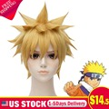 Naruto Golden Blond Short Straight Party Full Hair Wig Cosplay Anime Costume