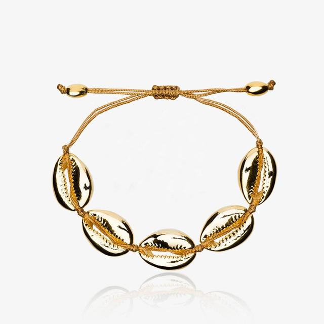 Aliexpress naturel PUKA coquille BRACELET or coquille de vache bracelets  boho mode plage coquillage femmes bracelets
