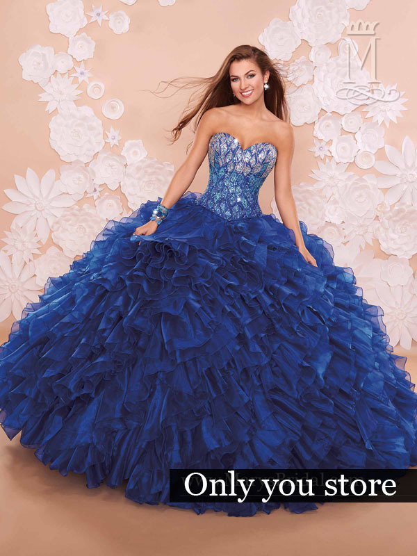 Aliexpress.com : Buy 2016 royal blue quinceanera dresses ball gown ...