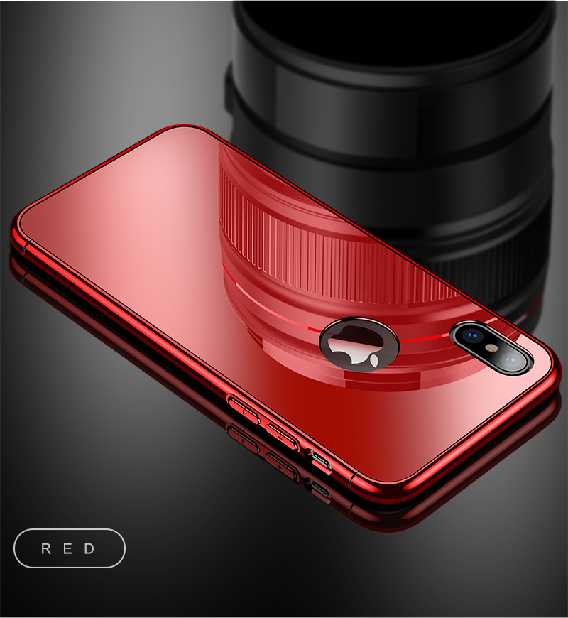 CAFELE Luxury Case For iPhone X 10 plating frame Tempered 3 in 1 Glass Ultra Thin color Glass Back Cover For iPhones X 10 Cases (14)