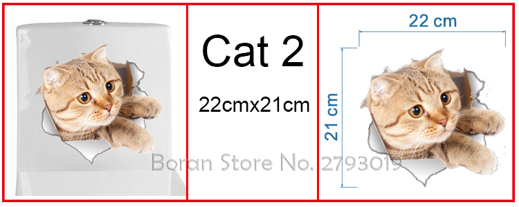 Cats 3D Wall Sticker Toilet Stickers Hole View Vivid Dogs Bathroom Cats 3D Wall Sticker Toilet Stickers Hole View Vivid Dogs Bathroom HTB1HbV8QFXXXXc8XFXXq6xXFXXXW