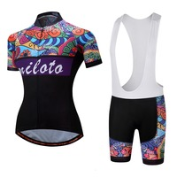 2018 Women Cycling Jersey Set Short Sleeve Summer MTB Cycling Clothing Pro Team Ropa Ciclismo Cycling