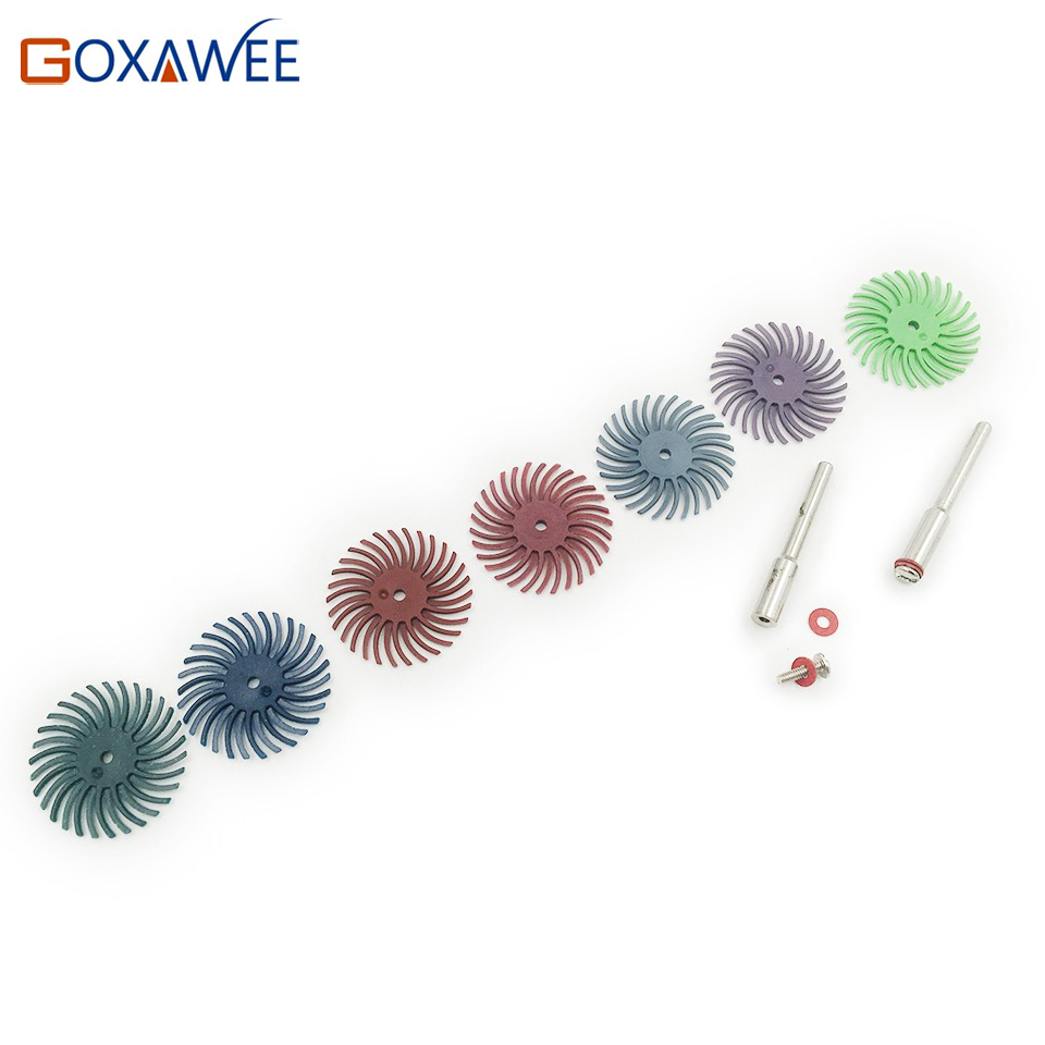 20pcs Rotary Tool Accessories For Dremel Radial Brush Abrasive Tools Mini Grinding Wheels Drill Bit For