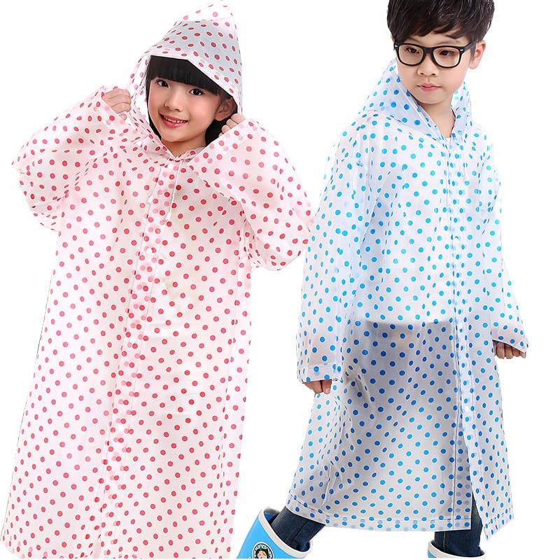 Toddler Baby Boy Girl Raincoat Dot Kid Poncho Waterproof Hooded Rainwear