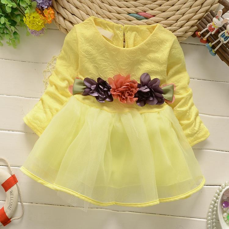 91a8027e0 2017 طفلة الأميرة فساتين الأطفال اللباس جميلة الاطفال ملابس فتاة اللباس  الخريف طويلة الأكمام