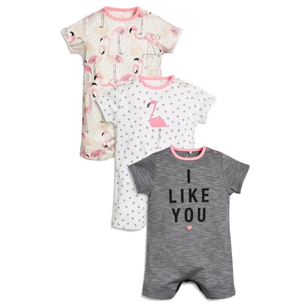 Flowers Paddle Surf Board Newborn Infant Baby Short Sleeve Romper Bodysuit Tops 0-24 Months