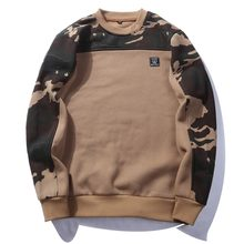 USA SIZE Side Buckle Ribbon Camouflage Hoodies 2018 Mens Hip Hop Casual Camo Pullover Hooded Sweatshirts Fashion Male Streetwear(China)