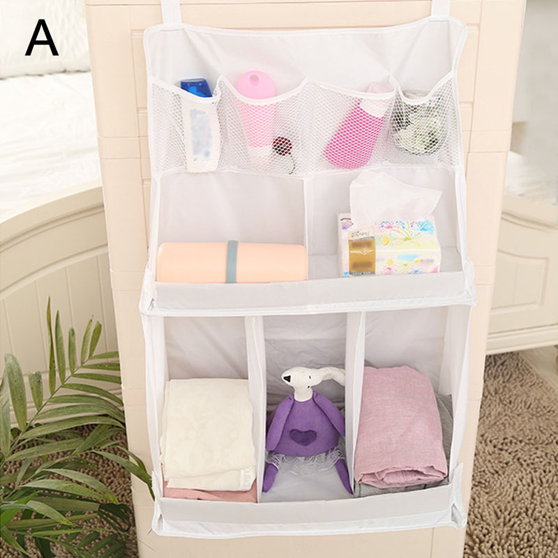 Portable Baby Bed Hanging Storage Bag Waterproof Toy Diapers Pocket Bedside Organizer Infant Crib Bedding Set E2S