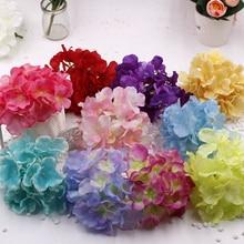 20pcs/bag Flower Heads Multicolor wedding flowers Handmade artificial hydrangea silk flower DIY Wedding car decoration