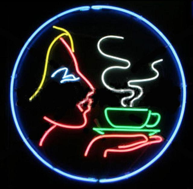 Custom Coffee Open Glass Neon Light Sign Beer Bar
