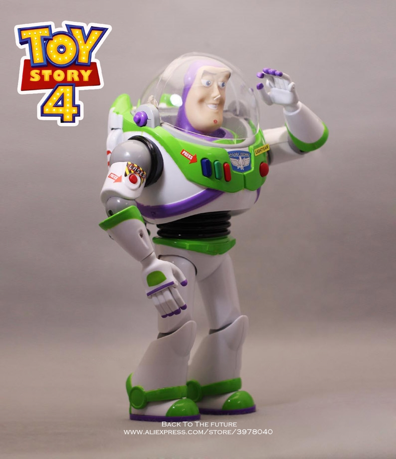 Image 2 - Disney Toy Story 4 Buzz Lightyear Talking figure 30cm PVC Action Figures mini Dolls Kids Toy model for Children giftAction & Toy Figures   -