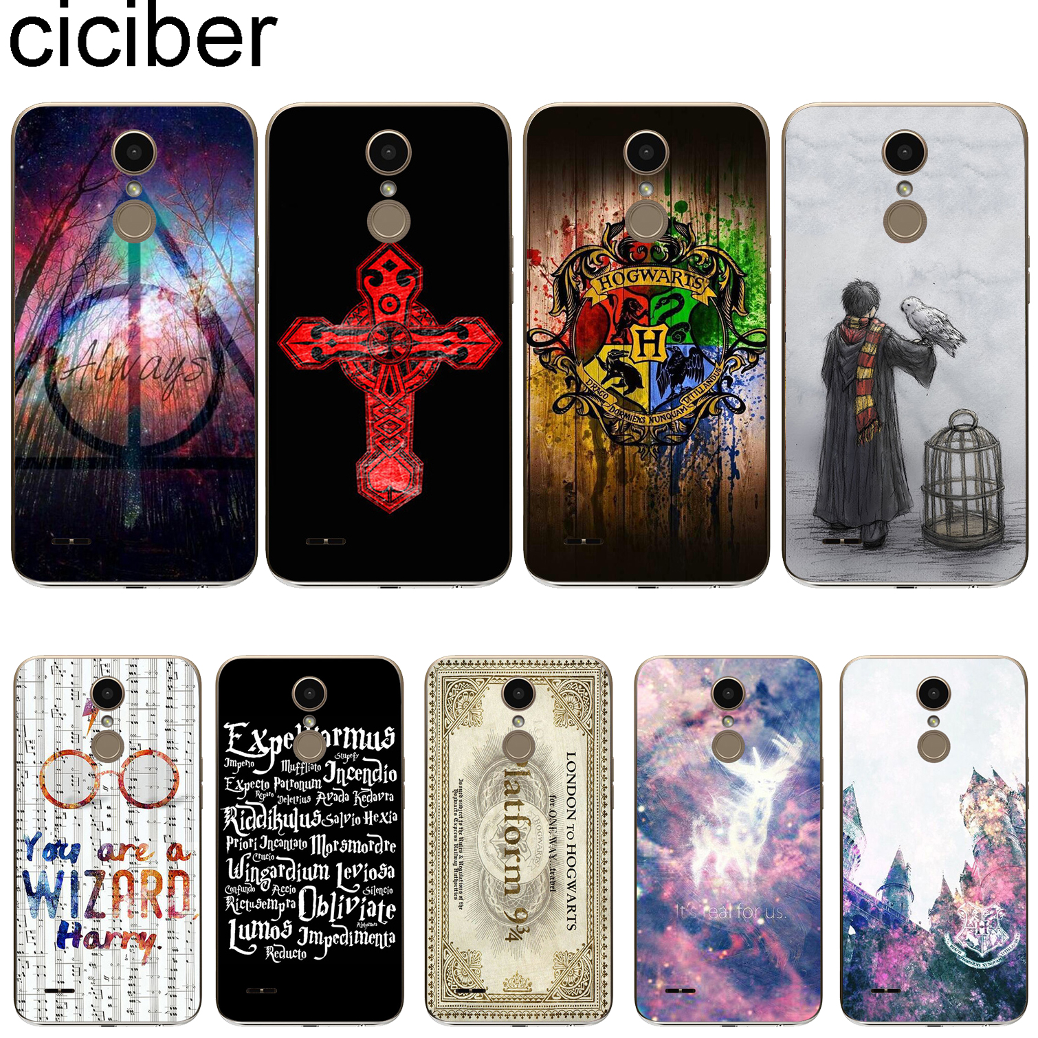 ciciber For LG G7 G6 G5 G4 V40 V35 V30 V20 THINQ Soft Phone Case Cover Clear For LG K8 K10 K4 K7 2017 2018 K9 K11 + Harry Potter