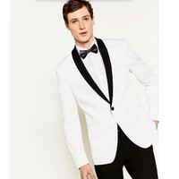new Blazer Men Shawl Collar Men's Suit Jacket Handsome A For Grain Of Buckle Leisure The Wedding Guests Dresses