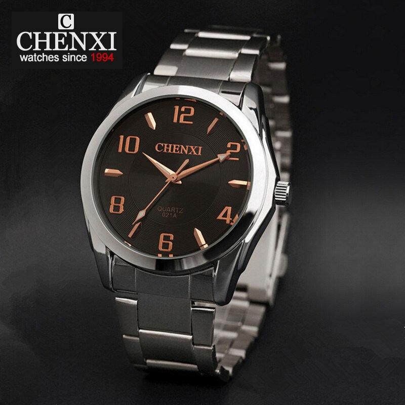 CHENXI Watch Man Fashion Luxury Watch Big Dial Stainess Steel Strap Fashion Male Quartz Clock Hot Sale Brand Wristwatch NATATE chenxi steel strap tachymeter quartz watch