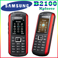 B2100 Оригинальный Разблокирована Samsung B2100 Xplorer 1000 мАч 1.3MP 1.77 Дюйм(ов) 3 Г Водонепроницаемый Восстановленное Мобильного Телефона Бесплатная Доставка