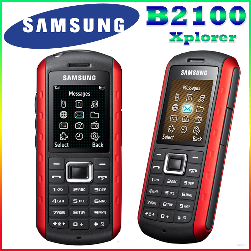 B2100 Original Unlocked Samsung B2100 Xplorer 1000mAh 1 3MP 1 77 Inches 3G Waterproof Refurbished Cellphone