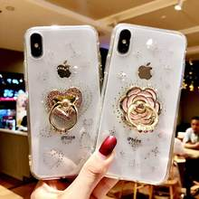 Luxury Diamond stand Cover for iphone 6 6s 7 8 plud case Back Pc+TPU Coque for iphone X XS MAX XR phone shell Bling Gliter capa(China)