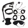 7pcs Under The Bed Restraint System Bondage Kit Leather Restraint Sling Rope Ball Gag Cuffs Whip Collar Blindfold Adult Sex Toy