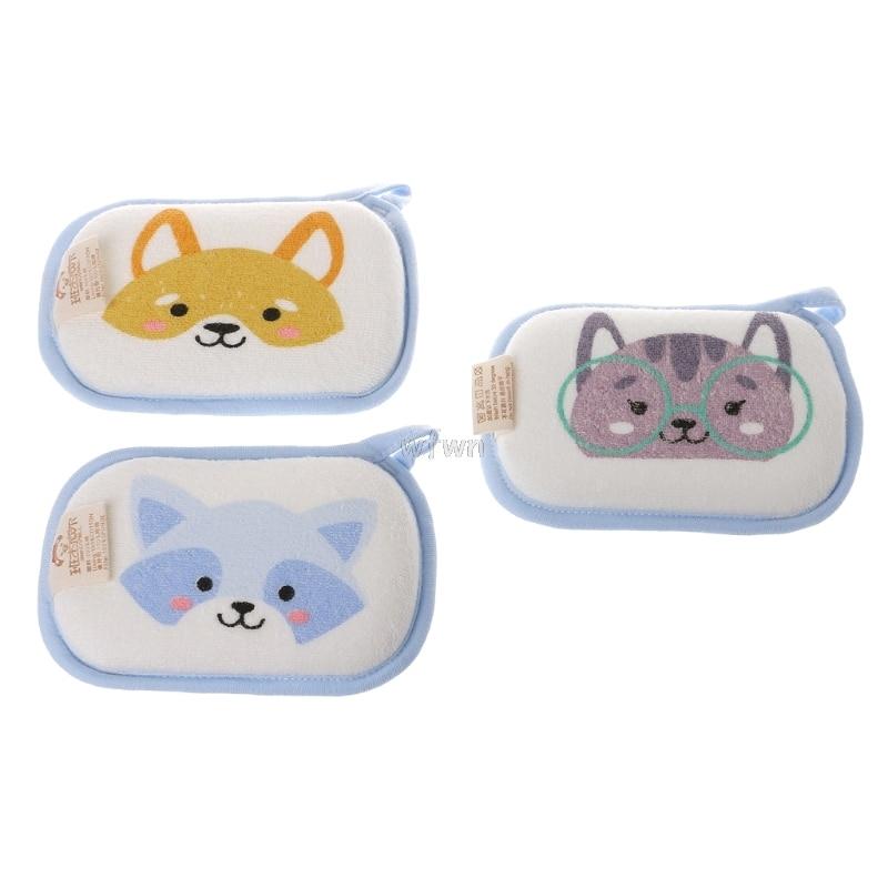 Newborn Baby Bath Brushes Infant Shower Sponge Cotton Rubbing Body Wash Towel MAY10 dropship