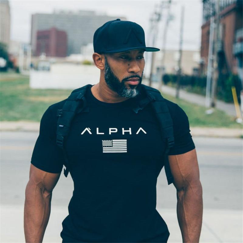 2018 yeni Marka Spor T-Shirt Erkekler Moda Rahat Gömlek T gömlek - Erkek Giyim
