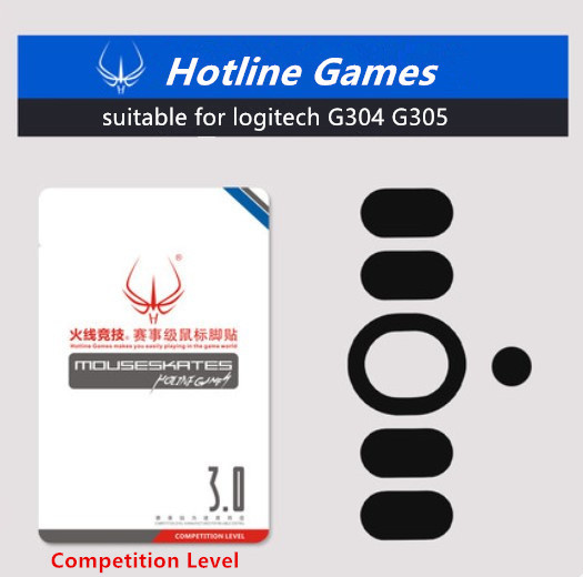1 Pack Hotline Games Competition Level Mouse Skates Mouse Feet For Logitech G304/G305 Teflon Mouse Glides With Free Tweezers