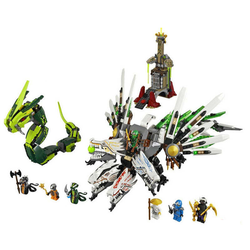mylb Compatible with Ninjago 959pcs blocks Ninjago Figure Epic Dragon Battle toys for children building blocks drop shipping compatible with lego ninjago 9450 lele 79132 959pcs blocks ninjago figure epic dragon battle toys for children building blocks