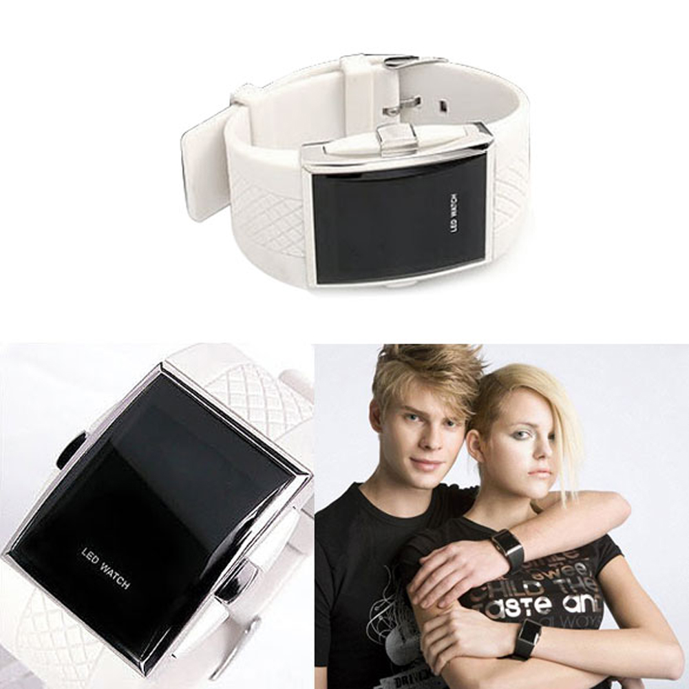 2017 New Fashion Watertight White And Black Digital LED Wrist Watches Men Digital Watch Gifts For