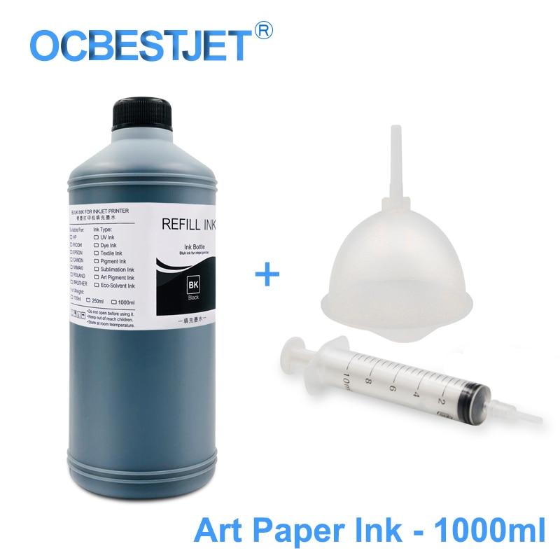 Ink Refill Kits Constructive 1000ml/bottle Art Paper Ink Art Pigment Ink For Epson T50 T60 P50 P60 R200 R260 R280 L1300 1390 1400 1410 1430 1500w T1100 T1110