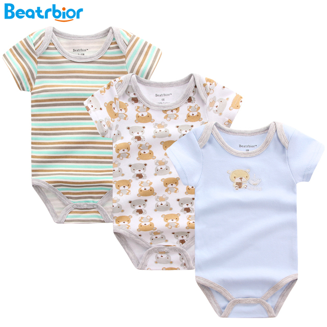 376be5e20e519 2018 Baby Rompers Newborn Baby Clothing 100% Cotton Short Sleeve New born  Baby Boy Girl Romper Jumpsuits Baby Clothes Set