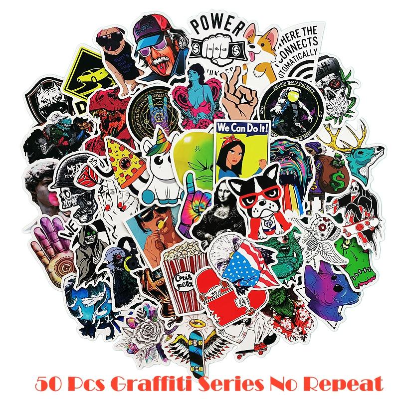 50 pcs/pack Classic Fashion Style Graffiti Stickers For Moto car & suitcase cool laptop stickers Skateboard sticker цена