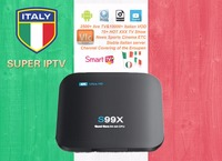 Italiano IPTV S99X caja DVB-S2/T2/c receptor sintonizador híbrido 3000 20000 vivo VOD europeo ex Yu adulto Italia hotxxx canales paquete