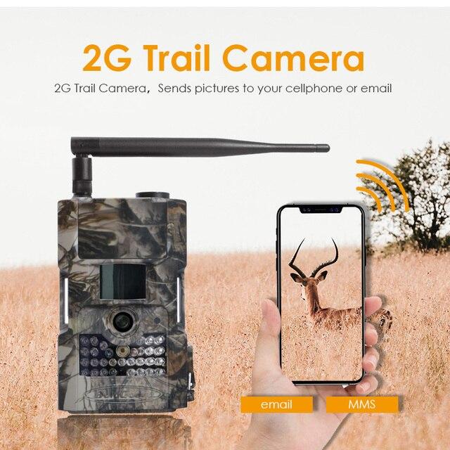 Bolyguard săn đường mòn camera 2G MMS SMS 18 M 1080PHD động vật hoang dã 90ft PIR tầm nhìn ban đêm ảnh bẫy Hướng Đạo Camera fototrappola