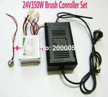 24V350W Electric Speed Controller Charger Kit Brushed Controller Charger Set Electric Bike Scooter