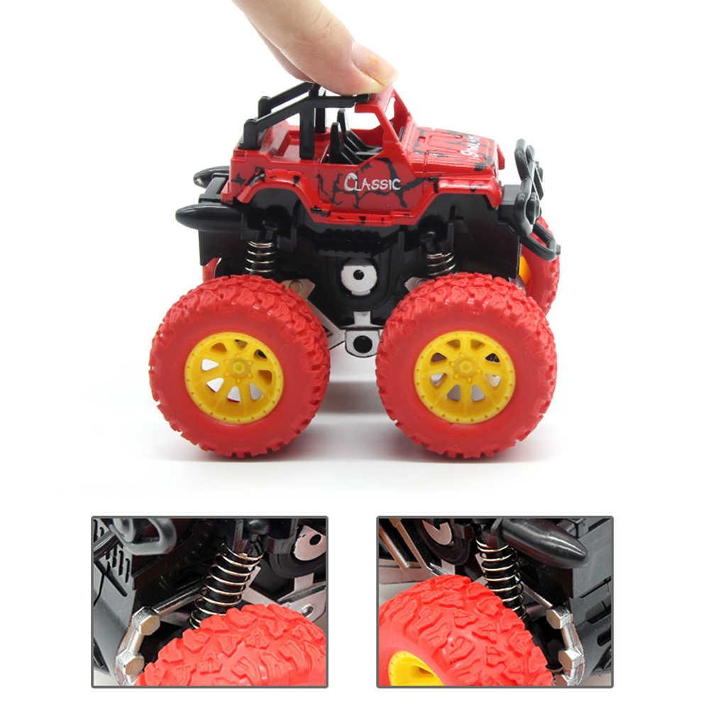 4 Pcs Mini 4WD Inersia Diputar Mobil Mainan Anak Laki-laki Friction Resistance Roda Empat Off-Road Model Inersia Mobil mainan untuk Anak-anak Hadiah